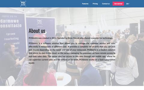 Screenshot of About Page posbistro.com - About us | Restaurant mobile cloud POS and management software - captured March 16, 2019