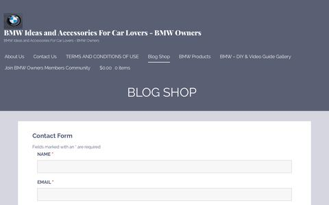 Screenshot of Blog dropshopdeals.com - Blog Shop – BMW Ideas and Accessories For Car Lovers – BMW Owners - captured Sept. 9, 2017