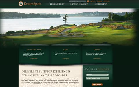 Screenshot of About Page kempersports.com - Golf Course Management | Hospitality Management | KemperSports - captured Sept. 22, 2014