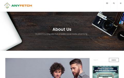 Screenshot of About Page anyfetch.com - About Us - AnyFetch - captured March 25, 2017