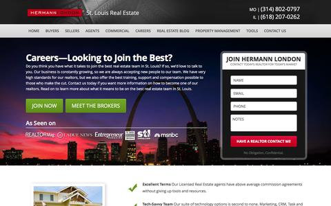 Screenshot of Jobs Page hermannlondon.com - St. Louis Real Estate License - How to be a Realtor in Missouri - captured Jan. 20, 2016