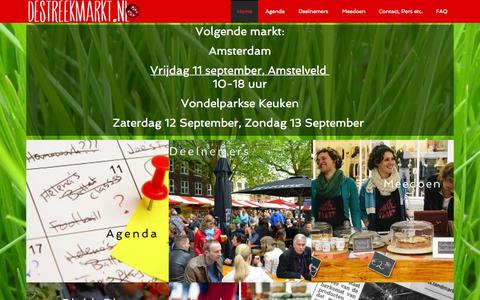 Screenshot of Home Page destreekmarkt.nl - DeStreekmarkt.nl - De leukste markt voor lekkere streekproducten. - captured Sept. 12, 2015