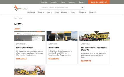 Screenshot of Press Page bostgroup.com.au - News - Bost Group - captured Dec. 9, 2018