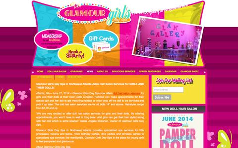 Screenshot of Press Page glamourgirlsdayspa.com - News | Glamour Girls Day Spa - captured Sept. 30, 2014