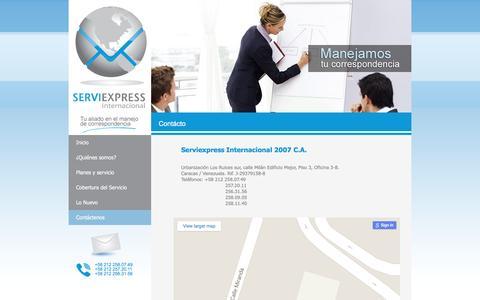 Screenshot of Maps & Directions Page serviexpress-int.com - ServiExpress - captured Jan. 16, 2016