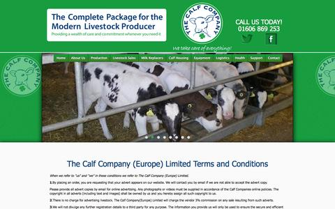 Screenshot of Privacy Page thecalfcompany.com - Privacy Policy - The Calf Company - captured Oct. 7, 2014