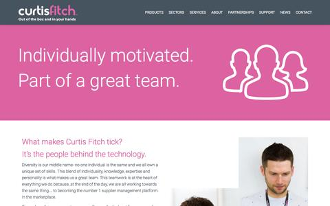 Screenshot of Jobs Page curtisfitch.com - Careers - Curtis Fitch - captured Dec. 13, 2015