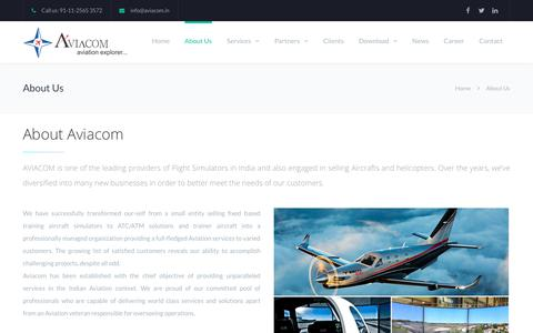 Screenshot of About Page aviacom.in - About Us | Aviacom - captured Oct. 1, 2018