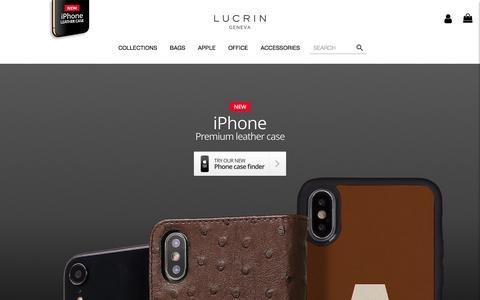 Screenshot of Home Page lucrin.com - LUCRIN GENEVA | USA - captured Sept. 25, 2018