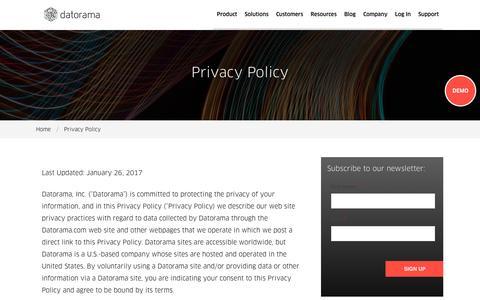 Privacy Policy - Datorama