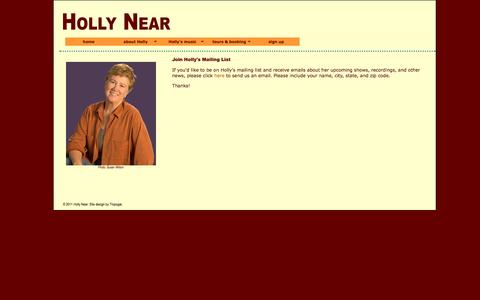 Screenshot of Signup Page hollynear.com - :: Holly Near - Join :: - captured Oct. 2, 2014