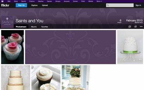 Screenshot of Flickr Page flickr.com - Flickr: Saints and You's Photostream - captured Oct. 23, 2014