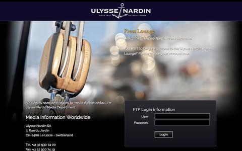 Screenshot of Press Page ulysse-nardin.com - Ulysse Nardin Press Lounge - Ulysse Nardin - Le Locle - Suisse - Swiss Mechanical Watch Manufacturer - captured Oct. 29, 2014