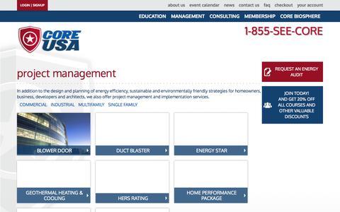 Screenshot of Team Page coreusa.org - Project Management - Core USA - captured Sept. 26, 2014