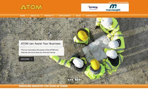 Screenshot of Home Page atom.com.au - ATOM - Industrial Hardware & Safety Supplier - captured Nov. 19, 2016