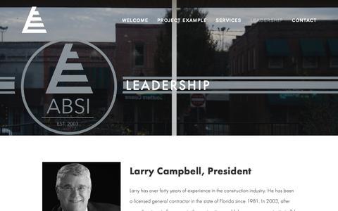 Screenshot of Team Page absi-bim.com - Leadership — ABSI - captured Oct. 2, 2018