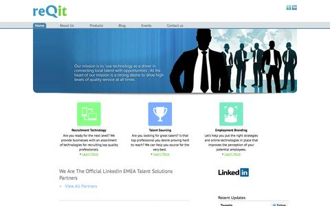 Screenshot of Home Page reqit.com.ng - Reqit | Official LinkedIn EMEA Talent Solutions Partners - captured Oct. 7, 2014