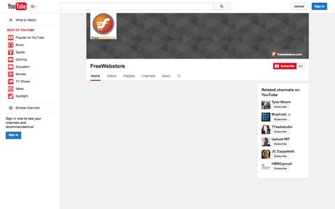 Screenshot of YouTube Page youtube.com - FreeWebstore  - YouTube - captured Nov. 1, 2014