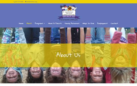 Screenshot of About Page cmmcc.org - About | Carol Matheys Center for Children and Families | Oakdale, MN - captured Sept. 27, 2018