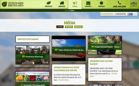 Screenshot of Press Page centredejardinbrossard.com - Média - CDJB - captured Sept. 23, 2014