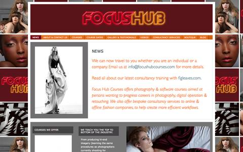Screenshot of Home Page Press Page focushubcourses.com - FOCUS HUB | PHOTOGRAPHY COURSES - captured Sept. 30, 2014