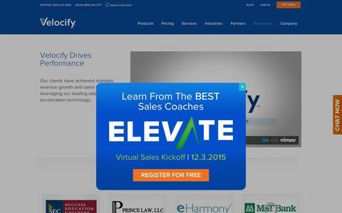 Screenshot of Case Studies Page velocify.com - Customer Success - Velocify - captured Nov. 17, 2015