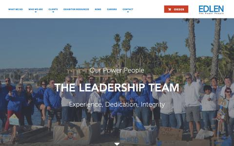 Screenshot of Team Page edlen.com - Edlen's Leaders & Sales Team - captured Nov. 9, 2018