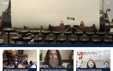 Screenshot of Blog prrbiz.com - Blog | PRR Biz - captured Oct. 12, 2016