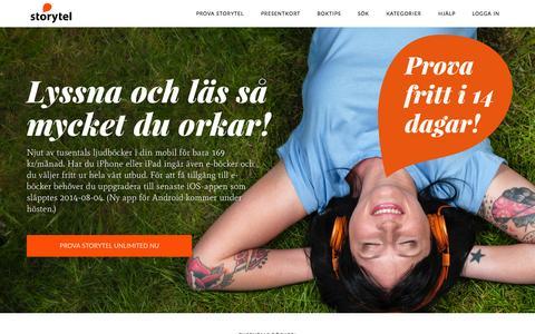 Screenshot of Home Page storytel.se - Storytel böcker i mobilen - captured Sept. 24, 2014