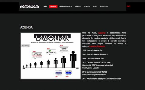Screenshot of About Page labomar.com - Labomar-Azienda-Istrana (TV) - captured June 16, 2015