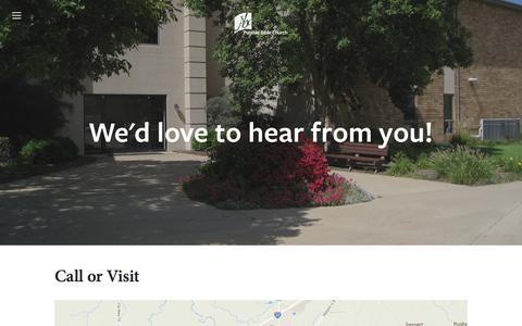 Screenshot of Contact Page pontiacbible.org - Contact Us — Pontiac Bible Church - captured Jan. 29, 2016