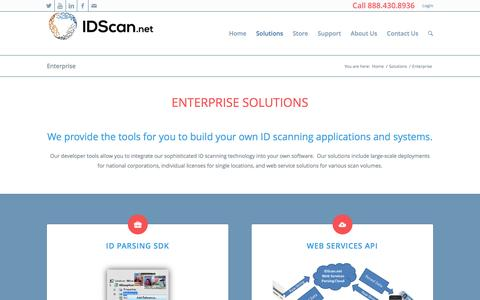 Screenshot of Developers Page idscan.net - Enterprise ID Scanning Solutions for your company - captured Sept. 2, 2016