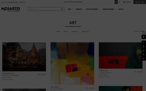 Screenshot of Products Page mojarto.com - Buy Handmade Paintings, Contemporary Indian Art, Abstract Paintings, Canvas Paintings | Indian Artwork Online - captured Feb. 10, 2016