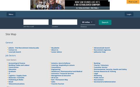 Screenshot of Site Map Page jobsite.co.uk - Jobsite Site Map - captured Dec. 3, 2015