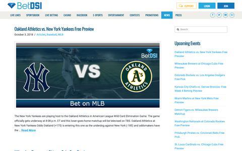 Screenshot of Press Page betdsi.com - BetDSI News | Gambling Newsletter - captured Oct. 5, 2018