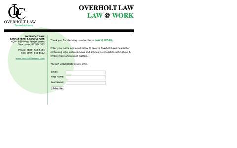 Screenshot of Signup Page overholtlawyers.com captured Oct. 7, 2014