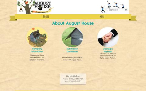 Screenshot of About Page augusthouse.com - About | August House Publishers | Atlanta - captured Jan. 27, 2018