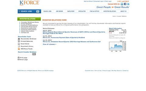 Kforce Inc. - Investor Relations Home