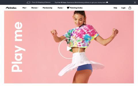 Screenshot of About Page meundies.com - MeUndies | The World's Most Comfortable Underwear for Men & Women - MeUndies - captured July 31, 2019