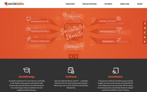 Screenshot of Home Page socialtalks.de - Socialtalks - captured Oct. 9, 2014