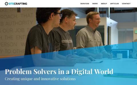 Screenshot of Home Page sitecrafting.com - Web Design, Website Development & Digital Strategy Agency | SiteCrafting - captured Sept. 23, 2018