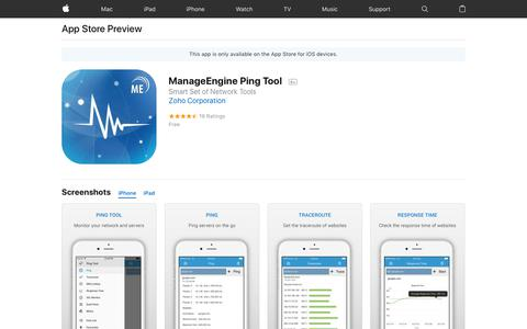 ManageEngine Ping Tool on the AppStore