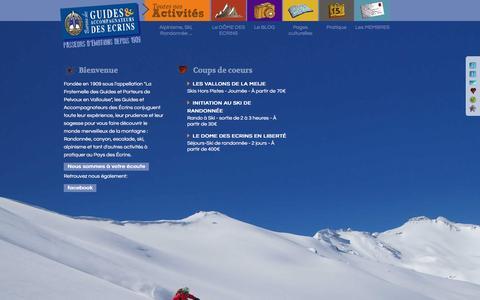 Screenshot of Home Page guides-ecrins.com - Bureau des Guides des Ecrins. - captured June 16, 2016