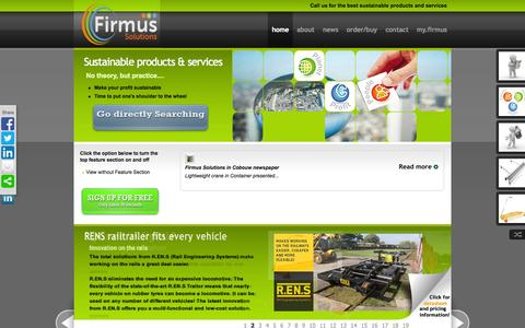 Screenshot of Home Page firmus-solutions.com - Firmus Solutions - home - captured Sept. 8, 2015