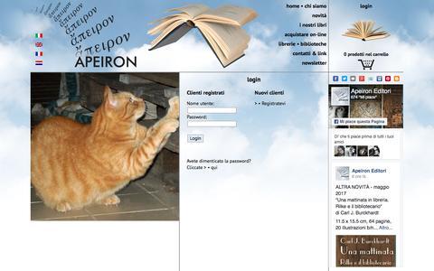 Screenshot of Login Page apeironeditori.com - APEIRON EDITORI - login - captured May 30, 2017