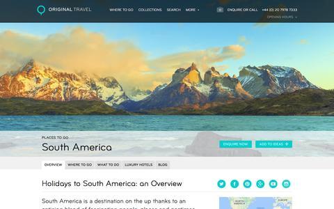 Luxury Holidays In South America | Original Travel