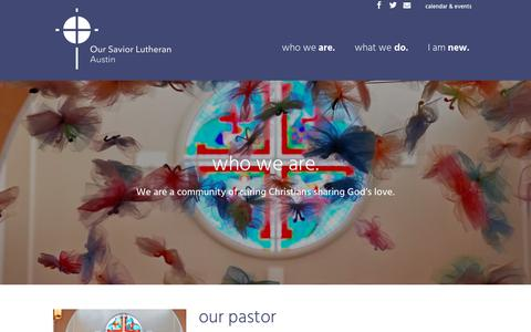 Screenshot of Team Page oslaustin.org - who we are   Our Savior Lutheran - captured July 1, 2018
