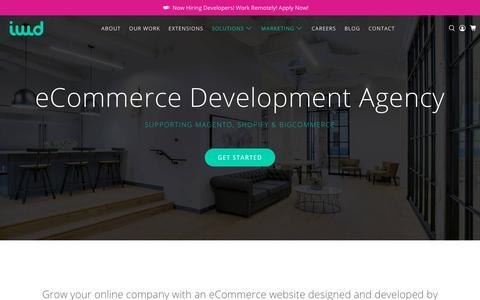 Screenshot of Home Page iwdagency.com - Magento, Shopify, BigCommerce Development Agency - captured Feb. 13, 2020