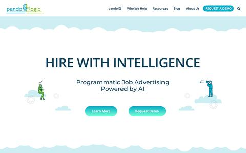 Screenshot of Home Page pandologic.com - PandoLogic - Pioneering Programmatic Recruitment - captured July 11, 2019