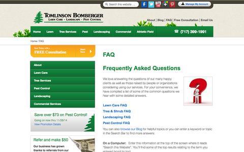 Screenshot of FAQ Page tomlinsonbomberger.com - FAQ | Tomlinson Bomberger - captured Oct. 7, 2014